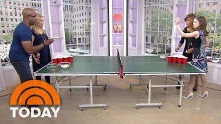 Anna Kendrick Battles Darius Rucker In Root Beer Pong | TODAY