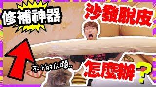 淘寶開箱:【家具脫皮】怎麼辦?😲有這個不再怕寵物抓沙發!(中字)