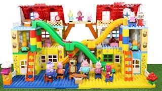 Peppa Pig House Construction Sets - Lego Duplo House With Water Slide Creations Toys For Kids #6