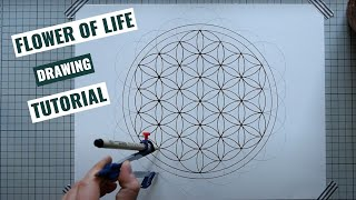How To Draw A Flower Of Life | Sacred Geometry Tutorial