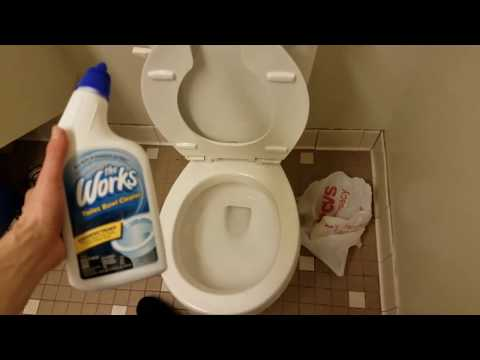 The Works Disinfectant Toilet Bowl Cleaner Review With Demonstration