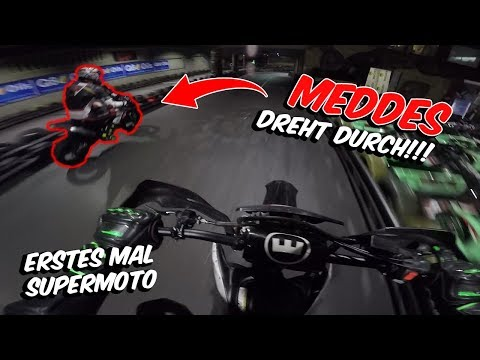 Meddes überrundet mich - erstes Mal Supermoto Rennen!? - MotoVlog