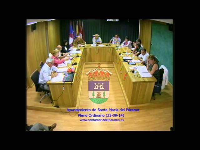 Pleno Ordinario (25 de Septiembre de 2014)