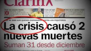 La Realidad Se Puede Hacer Tapa  La Crisis Causó 2 Nuevas Muertes  Kosteki & Santillán