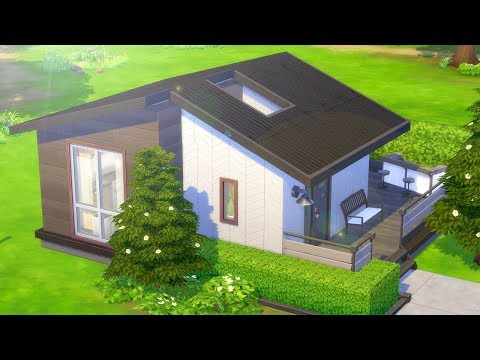 GLASS ROOF TINY HOME // The Sims 4: Speed Build