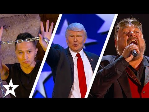 Judges Cuts Part 2 | Demian Aditya, The Singing Trump and MORE!! | America's Got Talent 2017 (видео)