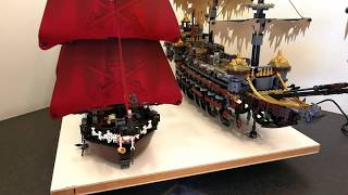 360° Comparison Queen Anne's Revenge 4195 vs Silent Mary 71042 Lego