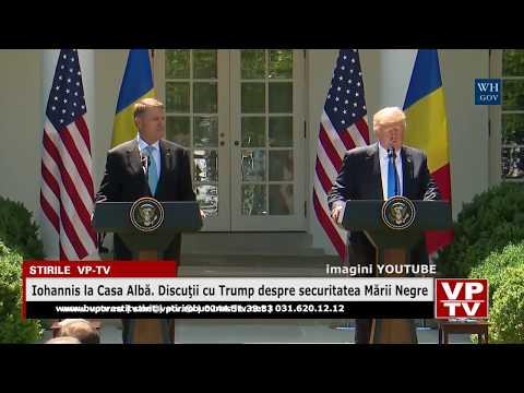 Iohannis la Casa Albă. Discuţii cu Trump despre securitatea Mării Negre