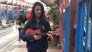 Pengamen Cantik Nyanyi Agak Sedikit Fals Cover Jaga Selalu Hatiku(seventeen)
