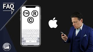 How To Type and Insert Trademark TM, Registered (R) and Copyright (C) Symbols on iPhone / iPad IOS