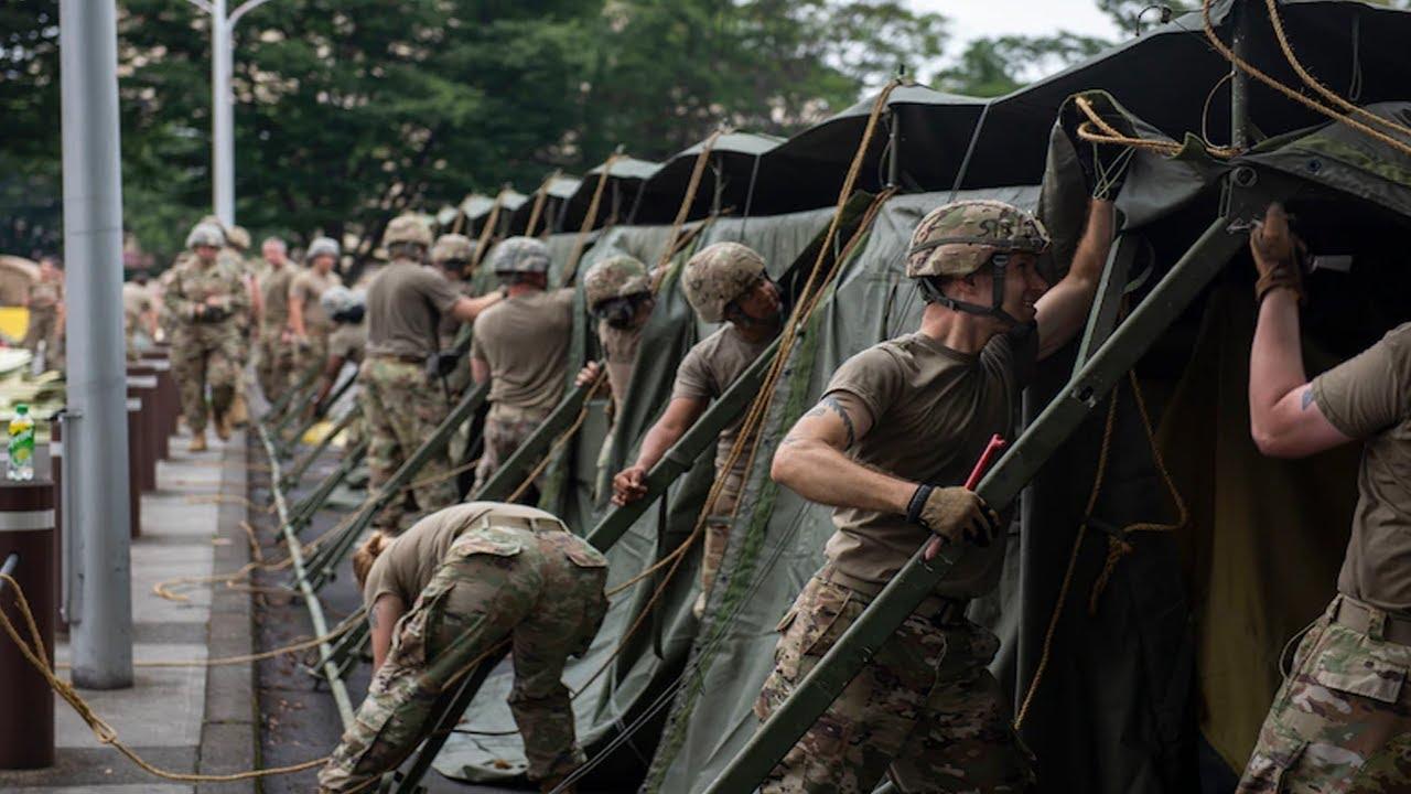 US Military News • U.S. Army 311th Field Hospital Exercise • Yokota Air Base, Japan, June 30, 2021