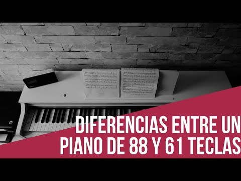 Algunas Diferencias Entre Un Piano Musical De 88 Teclas Y 61 Teclas