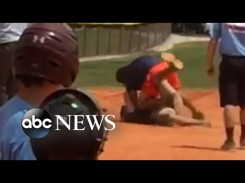 Coaches Brawl at Youth Baseball Game [CAUGHT ON TAPE]