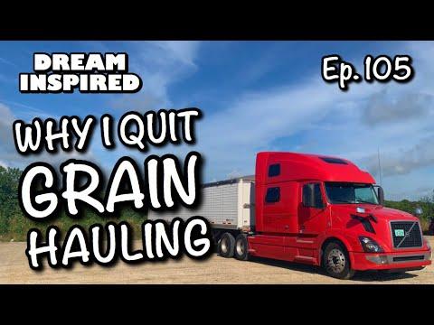 , title : 'Ep. 105 : Why I Quit Grain Hauling! Hopper Bottom Trailer! Bulk Transport!