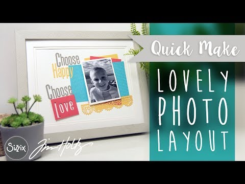 Alphanumeric Photo Layout - Sizzix