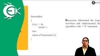 What is Recursion Algorithm  in Analysis of Algorithm   Ekeeda.com