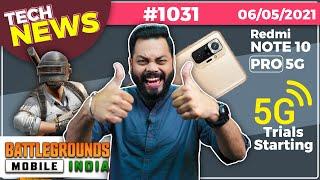 Battlegrounds Mobile India 사전 등록, 5G 평가판 시작, Note 10 Pro 5G, Narzo 30- # TTN1031