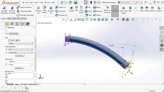 SOLIDWORKS CAD Instant 3D - Bending a Bar or Weldment