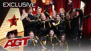 Ellie Kemper Congratulates Light Balance Kids On The Golden Buzzer! - America's Got Talent 2019 thumbnail