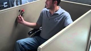 Elevador para sillas de ruedas. Para casa y oficinas
