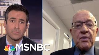 Watch: New Trump Lawyer Dershowitz Reveals Plan For Trump Trial Defense On Live TV | MSNBC