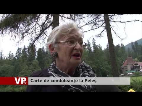 Carte de condoleanțe la Peleș