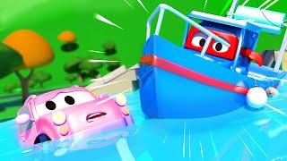 Карл спасает малышей, превратившись в рыбацкую лодку - Трансформер Карл в Автомобильный Город 🚚 ⍟