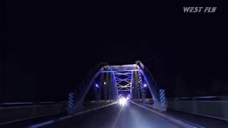 Түнгі Жайық көпірі - Орал қаласы/ Ночной Уральский мост - город Уральск/ Dji OSMO