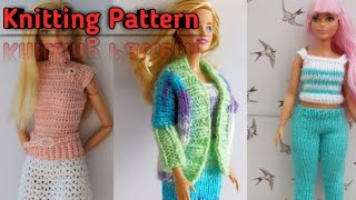 Barbie Doll || Handmade Barbies knitted Dress Pattern || GlamwithAnuzaa