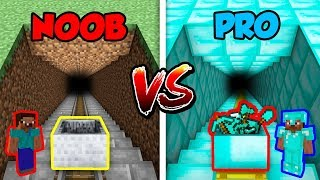 Minecraft NOOB vs. PRO: MINECART in Minecraft!