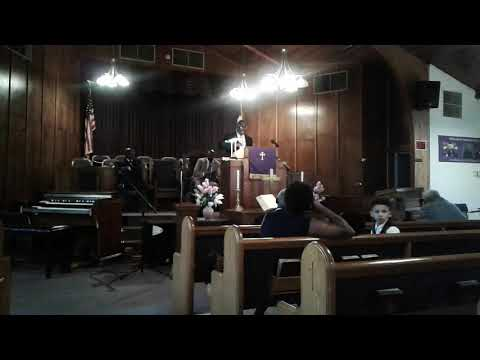 20190818 192213 Pastor Frederick Evans at Pilgram MB Church  NSBDA Sunday School Service Partial