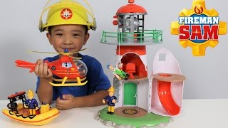 Fireman Sam Lighthouse Playset Toys Unboxing Fun With Wallaby Neptune Ckn Toys