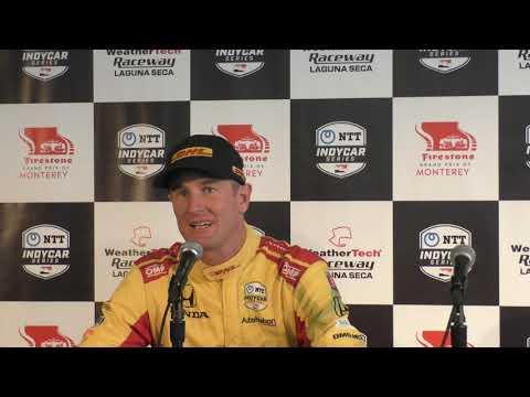 2019 IndyCar Laguna Seca Hunter Reay pre-race Q&A