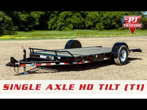 2019 PJ Trailers Single Axle HD Tilt (T1) 13 ft. in Montezuma, Kansas - Video 1
