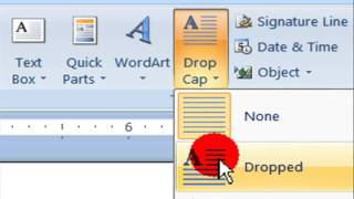Learn How To Add Drop Cap To Your Text In MS Word 2007 ( In Hindi)