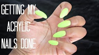 Getting My Nails Done | Acrylic Almond Shape