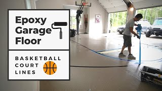 Building a Basketball Court in a Garage with an Epoxy Floor