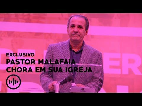 PASTOR SILAS MALAFAIA CHORA AO VER APOIO DE SUA IGREJA - VÍDEO