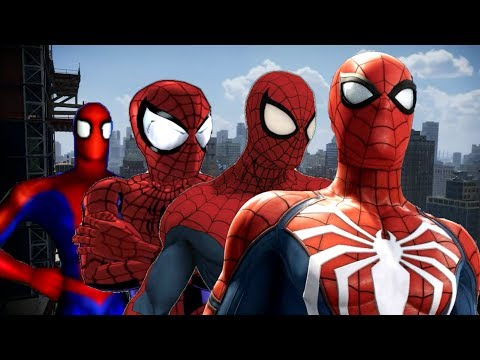 Evolution of Spider-Man Games Character Model (2000-2018)
