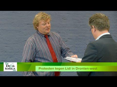 VIDEO | Ondernemers centrum protesteren massaal tegen Lidl in Dronten-west
