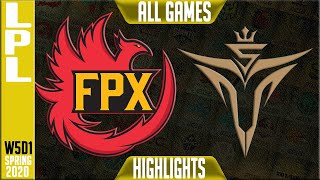 FPX vs V5 Highlights ALL GAMES | LCK Spring 2020 W5D1 | FunPlus Phoenix vs Victory 5