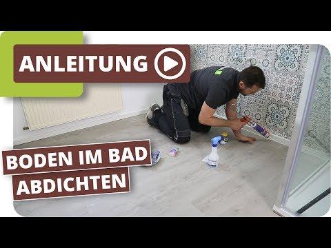 Feuchtraumboden für Badezimmer - Bodenbelag abdichten