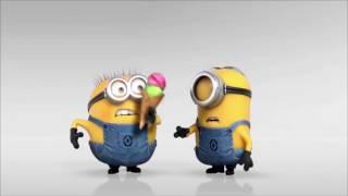 I will create funny minions eating icecream animation video