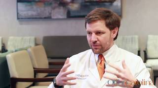 Dr. Chapman discussing what drew him to OrthoCarolina