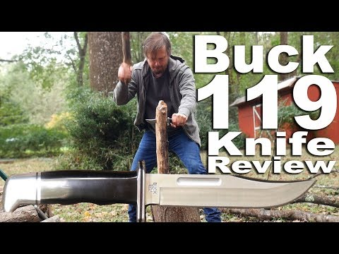 Buck 119 Knife Review.  The classic revisted and misused.  Absolutely no hunting in this video