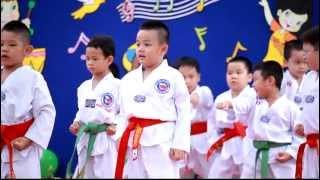 Bé Bảo Anh 5 tuổi múa võ