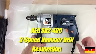 Vintage AEG SB2-400 2-Speed Hammer Drill Restoration