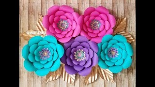Giant Paper Flower | How To Make  Diy Rose Tutorial (Large Size Paper Rose)