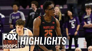 Jalen Smith's big second-half powers Maryland's win over Northwestern | FOX COLLEGE HOOPS HIGHLIGHTS