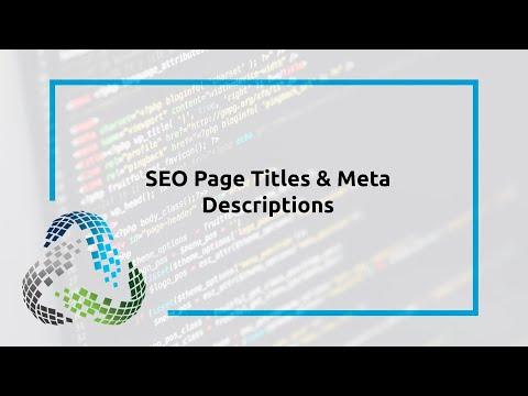 SEO Page Titles & Meta Descriptions